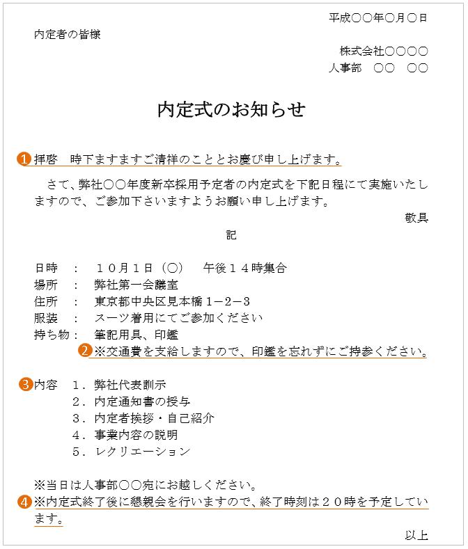 入社式の案内状の書き方と例文(送付とメール)!その送付 ...
