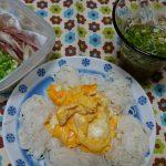 一人暮らし200円以下!食欲の無い時にそうめん&キャベツの味噌汁